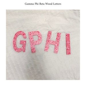 Gamma Phi Beta GPHI wood letters